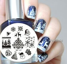 Nail Art Stamp Template Image Christmas Theme Stamping Plate BORN PRETTY 01