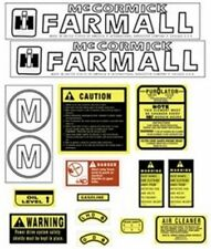 FA605SA Hood & Safety Decal Set Kit for Farmall Case IH International M Tractor