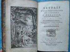 DORAT : LETTRES D'UNE CHANOINESSE DE LISBONNE,A MELCOUR, 1771. 4 gravures.