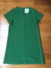NWOT$248  Anthropologie KARTA Green studded shift dress size M fits 6-8
