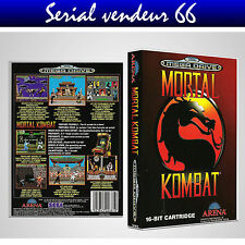 "BOX, CASE ""MORTAL KOMBAT"". MEGADRIVE. BOX + COVER PRINTED.NO GAME. MULTILINGUAL."