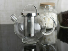 LA CAFETIERE Darjeeling 600ml GLASS TEAPOT With Infuser Basket