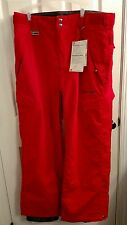 NWT Men's Quicksilver Snow pants Snowpants Large L Red 934237 Utility Series 5K