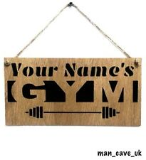 Personalised Custom Wooden Sign, Gym, Fitness, Man Cave, Garden, Gift