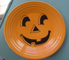 "Fiesta Carson's Tangerine  9"" Luncheon Plate with Pumpkin Face New never Used"