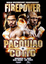 MANNY PACQUIAO vs. MIGUEL COTTO / 39in x 27in Original MGM Onsite Boxing Poster