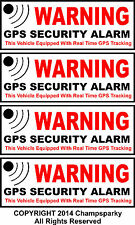 4 Auto Car Truck RV Bike SECURITY ALARM GPS Decal Stickers Apply Inside Window