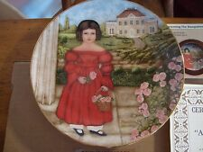 Abigail in the Rose Garded 1986 Edwin M kNowles Decorative Plate Mint #10779A