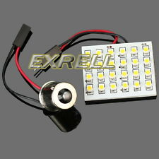 New Warm White Car Interior Bulb 24 SMD LED Lamp Light Panel With BA15S Adapter