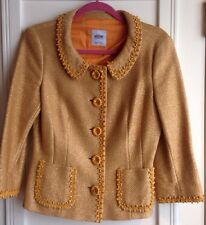 Moschino Cheap and Chic Golden Straw Embellished Jacket/Blazer US Size 12 Italy