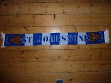 St Johnstone Calcio Football Sciarpa Blu/Bianco con Stemma del club Perth SANTI