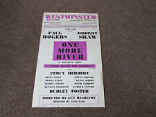Paul Rogers & Robert Shaw in One MORE River Original WESTMINSTER Theatre Poster