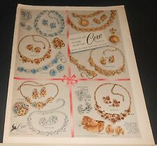 1955 Coro costume jewelry sets vintage print Ad ~ several styles