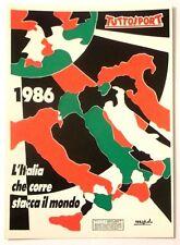 Cartolina Tuttosport - 1986 L'Italia Che Corre Stacca Il Mondo (Numerata)