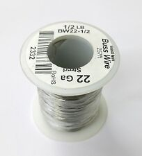 NEW 22 Gauge Tinned Copper Bus Wire, 1/2 Pound Roll (257' Approx. Length) 22AWG