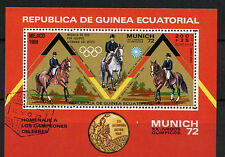 Equatorial Guinea 1972 Olympic Games, Horses Cto Used M/S #A92627