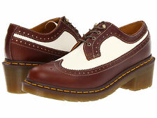 Dr. Martens Women`s Shannon Brogue Heel Shoe Tan White US 7 EU 38 UK 5 LAST!