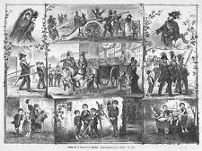 Środa Śląska, Neumarkt, Polen, Schützenfest, Original-Holzstich von 1882