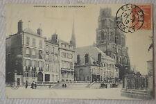 """CPA """" Orléans - Théâtre et Cathédrale"""