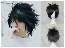 Anime Cosplay Wig Uchiha Sasuke Black Short Synthetic Hair Men Halloween Hair