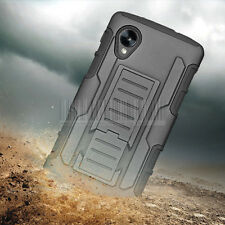 Rugged Armor Hybrid Impact Case Hard Cover Holster For Google LG Nexus 5 D820