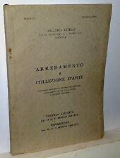 Galleria Vitelli Genova arredamento e collezione d'arte 1939 - XVII