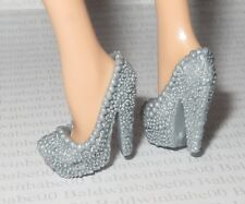 SHOES ~ MATTEL BARBIE DOLL FASHIONISTA GRAY TEXTURED PUMPS