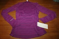 """NWT Lululemon """"Kanto Catch Me"""" Long Sleeve Top KANO Magenta sold out 10"""