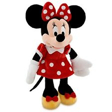 Disney Store Minnie Mouse Plush Red Polka Dot Dress Toy Exclusive Original New