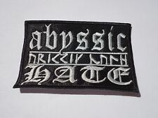 ABYSSIC HATE LOGO BLACK METAL EMBROIDERED PATCH