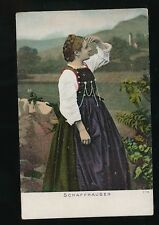 Switzerland SCHAFFHAUSEN traditional dress fashion costume c1902 u/b PPC