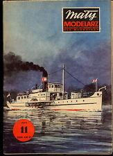 """Mały Modelarz 1975/11 Statek rzeczny """"Krakus"""""""