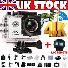 4K WIFI Waterproof Sports Action Camera 16MP HD 1080P DV Watch Remote Control