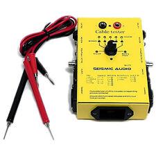 """Seismic Audio NEW CABLE TESTER - Test XLR, Speakon, 1/4"""", MIDI, RCA"""