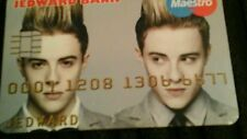 """ Jedward "" Credit Cruncherz Collectable Novelty Credit Card"