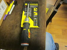 STANLEY FATMAX RATCHETING pistol grip SCREWDRIVER  & 12 BITS, NEW