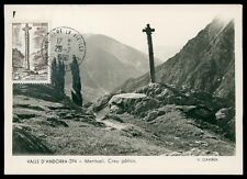 ANDORRA MK 1960 MERITXELL KREUZ CROSS GOTIC CARTE MAXIMUM CARD MC CM h0394