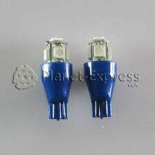 2 x Bombillas 5 LED SMD Azul T15 W16W Coche Posicion, interior cortesia Bombilla