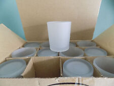 48 Frosted Glass Tea light Votive Candle Holder Wedding Table Event Party Decor