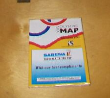 XXV OLYMPIC MAP BARCELONA 1992 SABENA BELGIAN WORLD AIRLINES COCA COLA