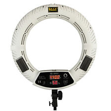 """18"""" LED Dimmable Photo Video Ring Light Lamp Counitue Lighting FD480 WHITE"""