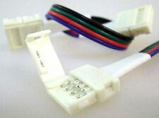 2 connettori doppi a clip 10MM con cavo 17cm per striscia led RGB 5050/5630