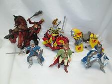 2002-07 Lot of 8 Schleich Peyo Medieval Knights Kings & Horses Crimson