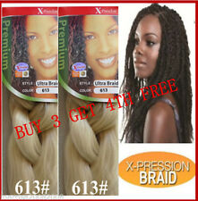**BUY 3 GET 4TH FREE** X-PRESSION SYNTHETIC KANEKALON BRAID HAIR--613# BLONDE