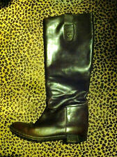 VINTAGE RALPH LAUREN COLLECTION BROWN TALL BOOTS 8 1/2 AA MADE IN ITALY