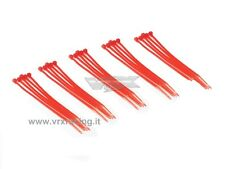 25 FASCETTE CABLAGGIO PLASTICA NYLON COLORATE ROSSE CABLE TIES 25PZ 100mm VRX