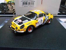 Renault alpine a110 1800 Rallye TDC Corse 1975 #7 nicolas amarillo once Trofeu 1:43