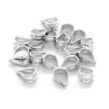 925 Sterling Silver Unsoldered Pendant Bail Connectors for Craft/Repair (20 pc)