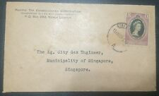 MALAYA cover - 1953 Queen Eliz Coronation stamp KL canc PACIFIC TIN CORP