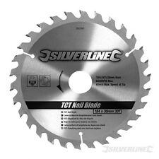 Silverline nagelfestes Hartmetall-Kreissägeblatt 30 Zähne, 184 x 30mm ohne Reduz